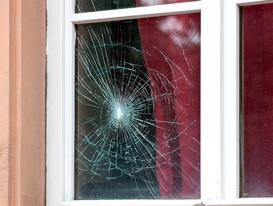 Broken Window Replacement by Precision Windows - McKinney, TX